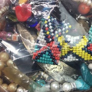Crafters jewelry lot recycle repurpose Lot K